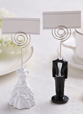 Metal Wedding Place Cards One Couple