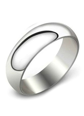 Concise Silver Stainless Steel Men's Ring