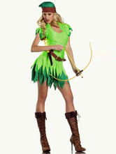 Anime Costumes AF-S2-365905 Halloween Green Attractive Adult Peter Pan Costume For Woman
