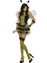 Anime Costumes AF-S2-381533 Halloween Yellow Polyester Quality Sexy Bee Costume
