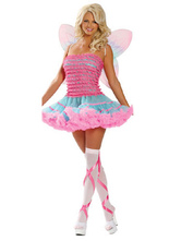 Anime Costumes AF-S2-381543 Halloween Pink Spandex Fantastic Sexy Bee Costume