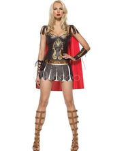 Anime Costumes AF-S2-312468 Halloween Patent PU Leather Costume Women's Brown Dress