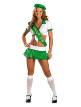 Anime Costumes AF-S2-365953 Halloween Fashion Green Cotton Fibers Sexy Costume For Women