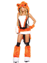 Anime Costumes AF-S2-365923 Halloween Multi Color Two-Tone Faux Fur Fabulous Women's Catwoman Costume
