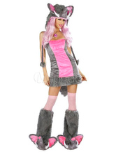 Anime Costumes AF-S2-377559 Halloween Pink Elephant Cotton Blend Attractive Woman's Sexy Costume