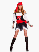 Anime Costumes AF-S2-495931 Cheap Halloween Women Pirate Costume off Shoulder Sexy Dress