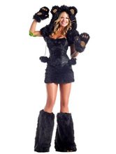 Anime Costumes AF-S2-378321 Halloween Black Catwoman Sexy Outfit