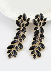 1f88c41345de Pendientes negros en forma de hojas