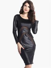 Стильный сплошной цвет, вырезать полу отвесно Bodycon платье для женщин