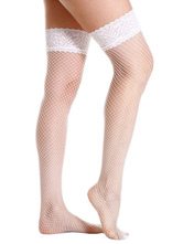 Bridal Lingerie Stockings Fishnet Nets Nylon Red Thigh High Wedding Lingerie
