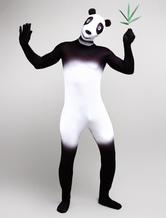 Anime Costumes AF-S2-245616 Halloween Black Panda Printed Zentai Suits