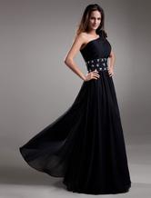Abendkleid aus Chiffon in Schwarz