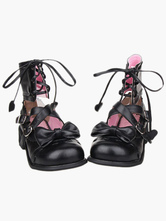 High Heel Special Ankle Design PU Lolita Shoes