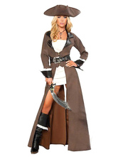 Anime Costumes AF-S2-362553 Halloween Brown Pirate Women's Costume Pirates Of The Caribbean Costume Cosplay