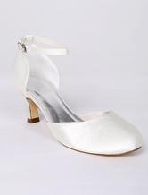 Chaussures de Circonstance 2019 Chaussures mariage soirée ivoire à talon  évasé dfebd6dafa0