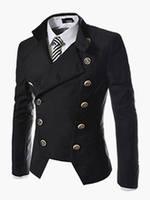 Men Blazer Casual Double Breasted Stand Collar Blazer For Men Desiged Cut 2021 Suit Jacket