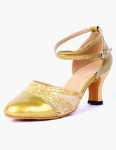 Women Dance Shoes 2021 Pointed Toe Ankle Strap Leather Professional Ballroom Shoes