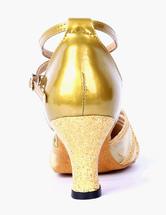 Zapatos de baile 2018 Señaló Toe tobillo correa PU cuero profesional salón de baile zapatos cz2AWb5RGP
