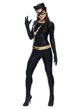 Anime Costumes AF-S2-527907 Halloween Black Catwoman Costume Catsuit