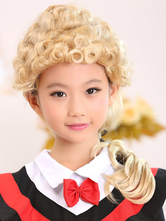 Anime Costumes AF-S2-390259 Light Gold Short Full-Volume Curls Kanekalon Medium Kids' Halloween wig