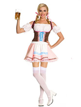 Anime Costumes AF-S2-506437 Halloween Sexy Pink Beer Girl Waitress Costume