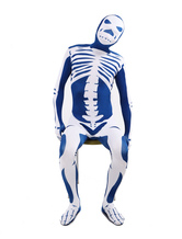 Anime Costumes AF-S2-3795 Skeleton Pattern Lycra Spandex Unisex Zentai Suit Halloween cosplay costume