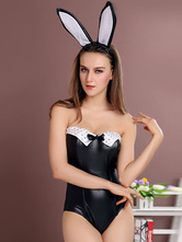 Anime Costumes AF-S2-514623 Halloween Black Backless Sexy Bunny Costume