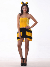 Anime Costumes AF-S2-365911 Halloween Yellow Polyester Sweet Sexy Bee Costume