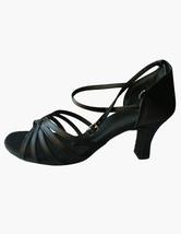 Chaussures de danse latine confortables rubans aux chevilles