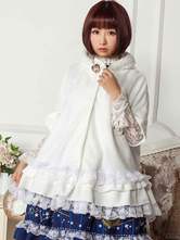 Lolitashow Gothic Lolita Coat Hood Cape