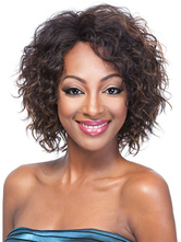 Anime Costumes AF-S2-609039 Short Wigs Black Tousled African American Wigs