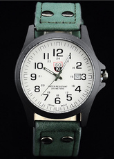 Alloy Leather Analog Casual Watches