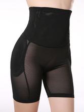 Populaires Leggins féminins noirs unicolore en lycra spandex sans ornement.