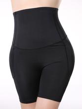Leggings 2021 Adorables Leggins féminins noirs unicolore en lycra spandex sans ornement.