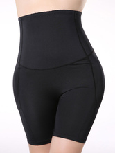 Damen Leggings  2020  Frauen schwarze Shorts Mitte Oberschenkel Shaper Gestaltung