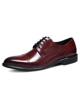 Men's Dress Shoes Cowhide Leather Brogue Shoes