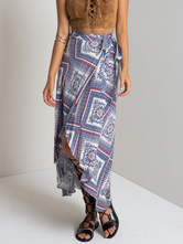 Tribal Print Mullet Rock mit Gespaltete Front
