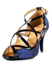 Pee Dance Shoes Women's Criss-cross High Heels Satin Ballroom Shoes
