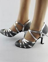 Hübsche 2020 Latein Schuhe aus in Silbern mit Stilettos im schicken & modischen Style