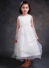 Do princesa da menina de flor vestido do tornozelo-comprimento cetim vestido de menina bola vestido jantar