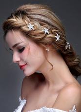 72bb1790dee3 Tocados para bodas 2019 Accesorio de boda pelo plateado pasador de  diamantes de imitación Tiara (