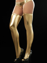 Thigh-High Pu Stocking For Women
