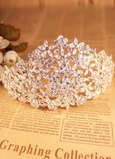 Bridal Wedding Flower Crown Tiara Silver Rhinestone Headpieces ( 15 Cm X 9 Cm X 8 Cm )