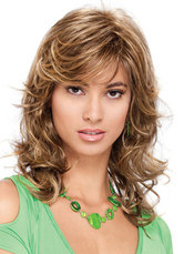 Anime Costumes AF-S2-626393 Long Hair Wigs Women's Curly Flaxen Heat Resistant Tousled Synthetic Wigs
