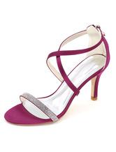 L TC Chaussures pour Femmes Soie Talon Plat Bout Rond Chaussures Plates Mariagechampagne/Argent/Mauve/Bleu/Rouge/Rose/Blanc, Pink, 35