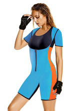Women's Body Shapewear Synthetic Short Sleeve Tummy Control Athletic Best Body Shaper