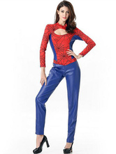 Anime Costumes AF-S2-628793 Halloween Costumes Spiderman Women's Jumpsuit Cosplay Color Block Cut-out Outfit