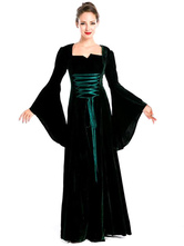 Anime Costumes AF-S2-628821 Women's Retro Costume Black Bell Long Sleeve Lace Up Maxi Vintage Dress