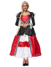 Anime Costumes AF-S2-628815 Halloween Costume Alice In Wonderland The Queen Of Spades Cosplay Women's Color Block Dress