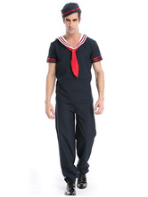 Anime Costumes AF-S2-628811 Sexy Sailor Costume Halloween Men's Navy Costume Blue Jumpsuit